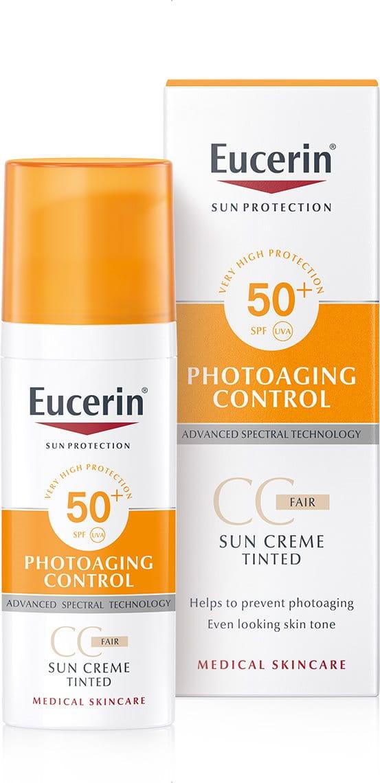 140e05d96 CC krém na opaľovanie na tvár Photoaging Control SPF 50+ svetlý   Tónovací  krém na opaľovanie na tvár  Eucerin
